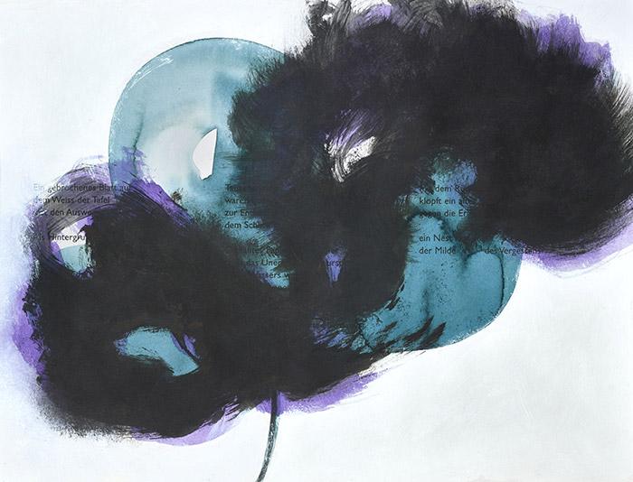 Fleurs d'obscur n°16 - encre, acrylique et feutre sur papier 2017