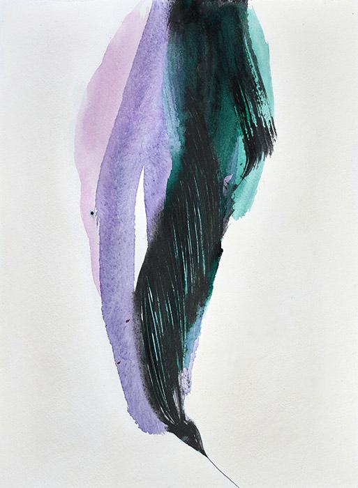 Fleurs d'obscur n°6 - 76 x 56 cm - encre, acrylique et feutre sur papier 2017