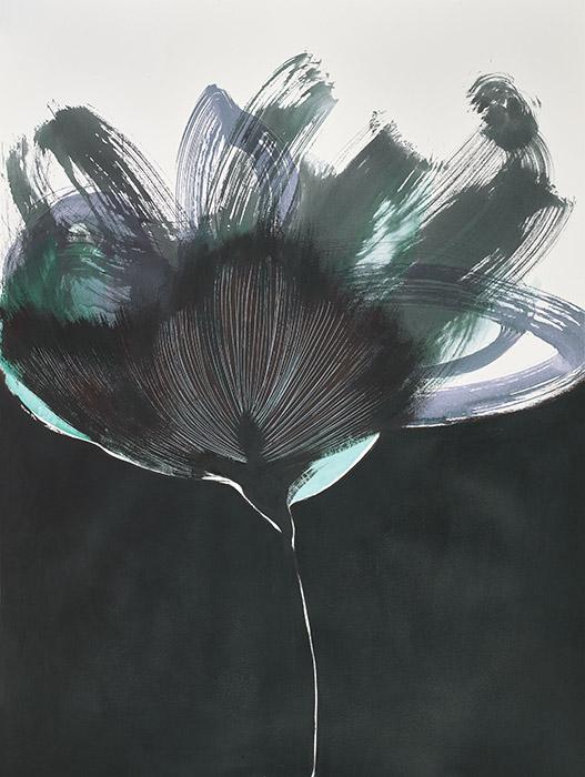 Fleurs d'obscur n°7 - encre, acrylique et feutre sur papier 2017