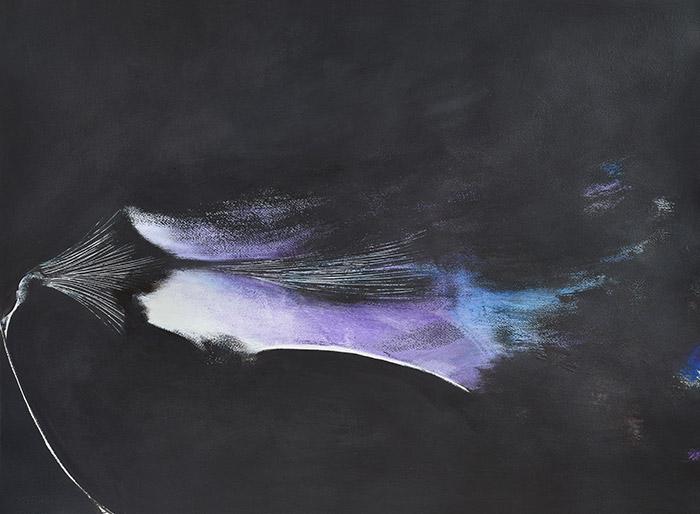 Fleurs d'obscur n°9 - encre, acrylique et feutre sur papier 2017